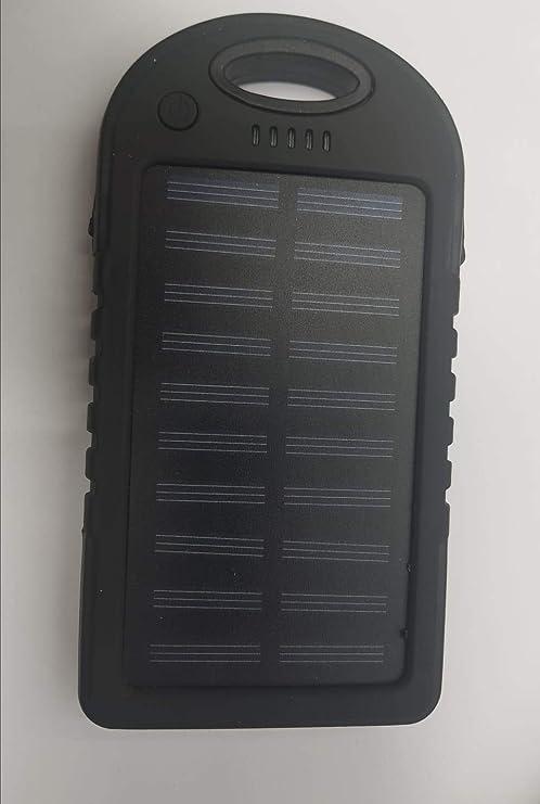 Cargador bateria Externa Solar 8000 MAH para movil Tablet ...