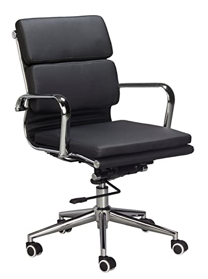 classic office chair. Classic Replica Medium Back Office Chair - Vegan Leather, Thick High  Density Foam, Stabilizing Classic Office Chair