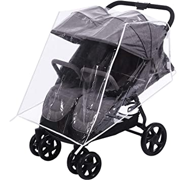 UNIVERSAL WHEEL COVER FOR PRAM BUGGY PUSHCHAIR FRONT REAR PROTECTION 1 COVER