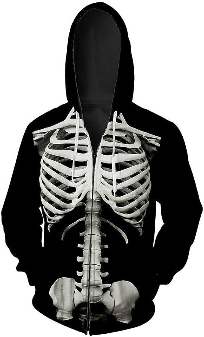 Mens Women/'s 3D Print Hoodie Sweater Sweatshirt Jacket Coat Pullover Skull Top