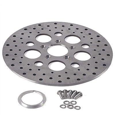 "11.5"" Front Brake Rotor Disc For Harley Touring Dyna Sportster Models Satin Polished SS 5 Holes: Automotive"