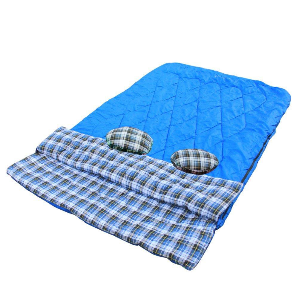 Doppelschlaf Paar/Outdoor-Camping-Schlafsack/Four Seasons Baumwolle Schlafsäcke ohne Naht