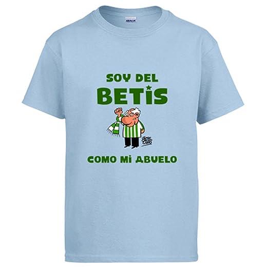 Diver Camisetas Camiseta Real Betis Soy del Betis como mi Abuelo: Amazon.es: Ropa y accesorios