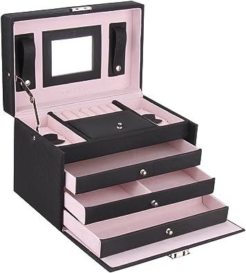 Rowling caja de la joyería caja joyero estuche para relojes organizador de joyas cofres para joya.ZG091: Amazon.es: Joyería