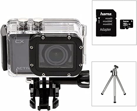 Activeon Cx Hd Pocket Action Camera With Waterproof Case 8gb Micro Sd Card And Amazon Co Uk Sports Outdoors