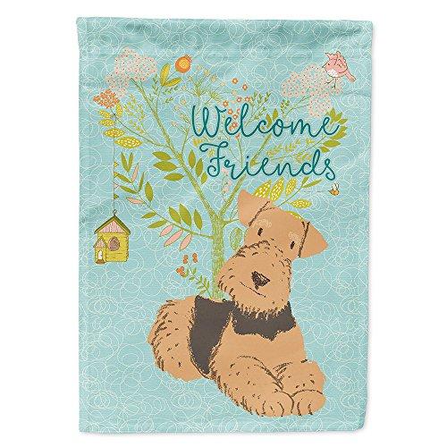 Caroline's Treasures BB7625GF Welcome Friends Airedale Terrier Decorative Garden Flag, Size, Multicolor