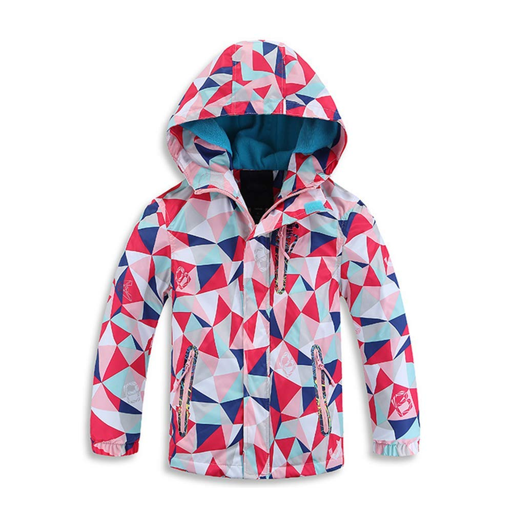 Digirlsor Kids Boys Girls Windproof Waterproof Fleece Jacket Warm Coat Lightweight Windbreaker Hood,3-10 Years