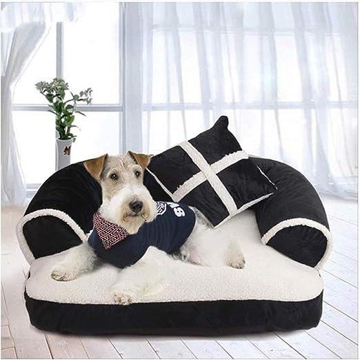 Chitty Nido de mascotas en blanco y negro 60X40 cm cama para ...