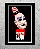 House of 1000 Corpses - Rob Zombie - Captain Spaulding - Horror Movie - Original Minimalist Art Poster Print