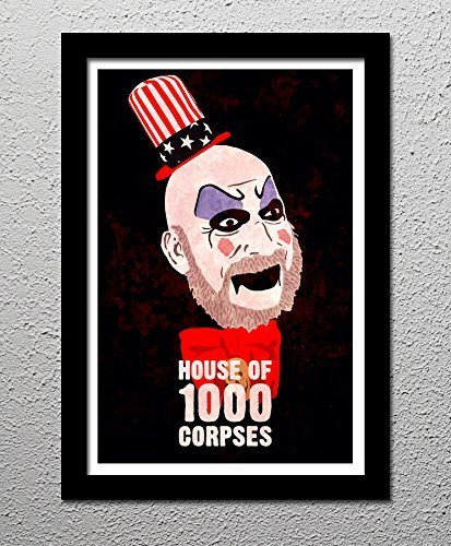 House of 1000 Corpses - Rob Zombie - Captain Spaulding - Horror Movie - Original Minimalist Art Poster Print (Rob Zombie Poster)