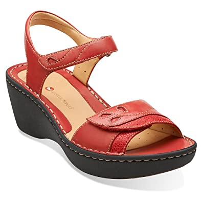 For Cheap Womens Sandals Clarks Un Dory Black Leather