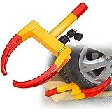 Sailnovo Antirrobo Remolque Cepo con inmovilizador electrónico para neumáticos, máximaanchura de neumático: 315 mm, candado de seguridad con 2 llaves .