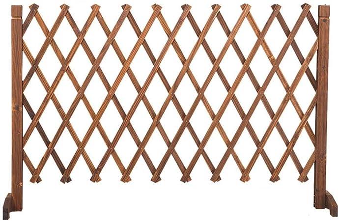 kaige Valla retráctil carbonizado anticorrosión Engrosada Cerca del Perro Puerta de Seguridad Cerca del jardín Barandilla Barrera de Madera (Tamaño: 40x120CM) WKY (Size : 80x160): Amazon.es: Hogar