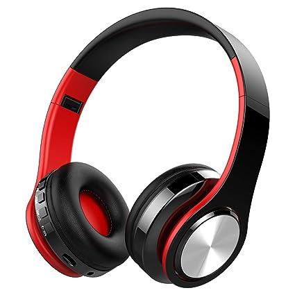 Auriculares Inalámbricos Bluetooth, OLTA Cascos Bluetooth Plegable con Micrófono, Manos Libres, Almohadillas de