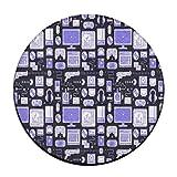 Azul patrón de Gaming alrededor Alfombra Doormats para el hogar Decorador comedor recámara cocina baño balcón