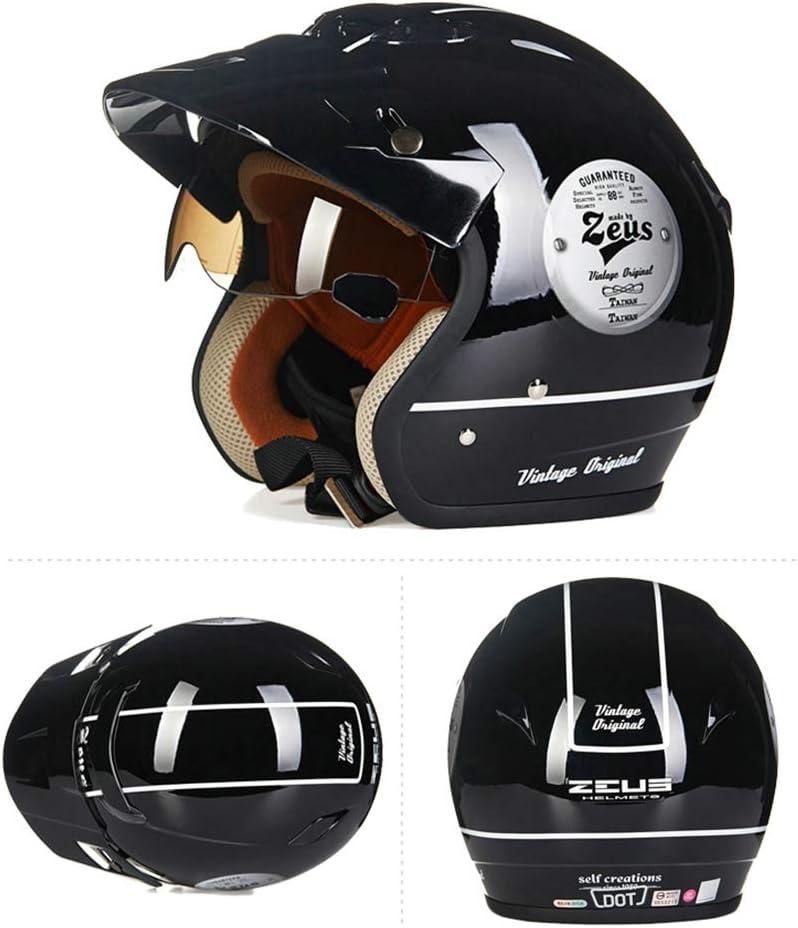 Z&FEI - Casco de Moto para Adulto, Estilo Retro Harley, Casco ...