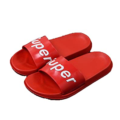 Slides Thick Soled Slippers Platform Sandals Shoes Zapatillas Mujer,red Super,11