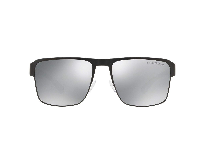 57e65591f2e2 EMPORIO ARMANI Sunglasses EA2066 3001Z3 Matte Black at Amazon Men's  Clothing store: