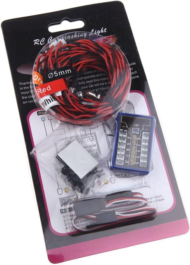 GoolRC 12 LED Syst/ème d/éclairage Clignotant New Highlight pour Voitures RC G.T.POWER Smart PPM//FM//FS 2.4G Camions 1//10th Partie Plus Petite Echelle