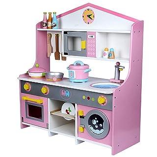 Building Set Costruisci e gioca giocattolo diverte Cucina giocattolo Set da cucina Cosplay Ragazzi ragazze Lavatrice Stufa da cucina Playset Per bambini Sviluppo età precoce Educativo Pretend Gioca As