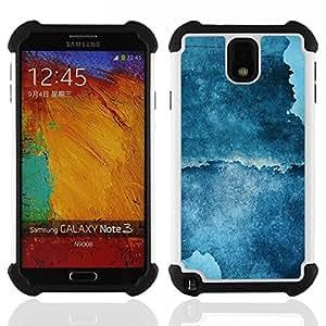 - Abstract Blue Grunge/ H??brido 3in1 Deluxe Impreso duro Soft Alto Impacto caja de la armadura Defender - SHIMIN CAO - For Samsung Galaxy Note3 N9000 N9008V N9009