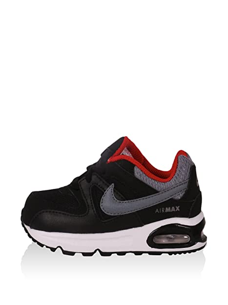 Nike Zapatillas Air Max Command (TD) Negro/Gris/Rojo EU 21 (US 5C)