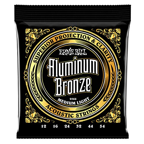 Ernie Ball Aluminum Bronze Medium Light Acoustic Set, .012 - .054