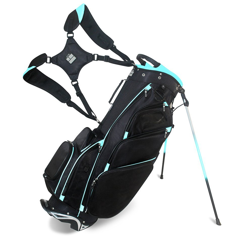 JCR Golf 550017 DL550 Women's Golf Stand Bag, Black/Light Blue