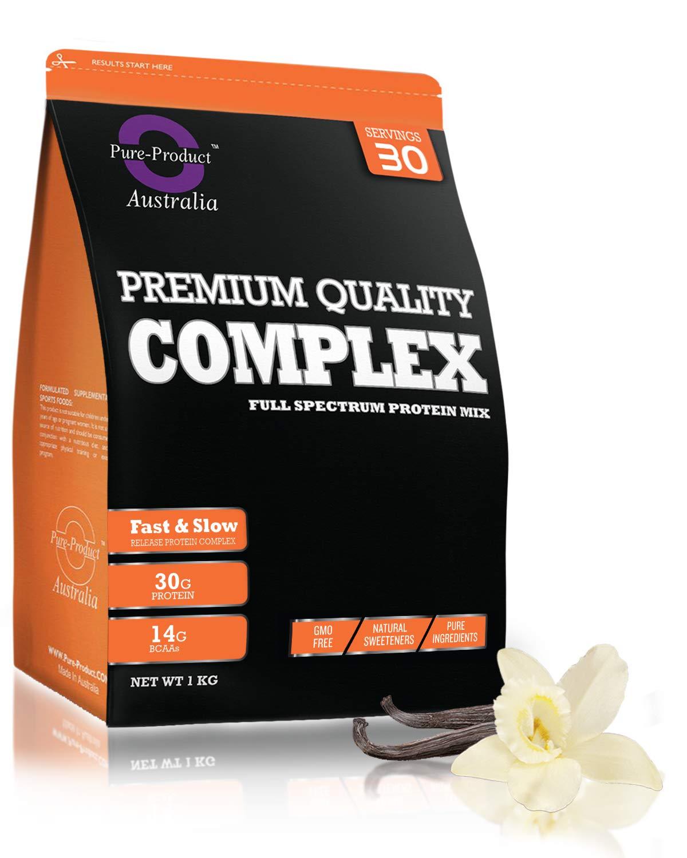 2KG Pure Product Australia Pure Complete Whey Predein Blend WPI WPC Casein Powder (Vanilla) (2KG)