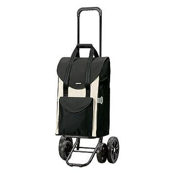 Andersen Carro de compra Quattro con bolsa Senta blanca, volumen 47L, marco acero con 4 ruedas