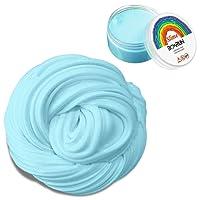 Slime floconneux, 6 onces Putty Floam Slime Jouet de détente pour le stress sensoriel avec récipient de rangement ADHT ASMR sans borax avec un parfum agréable pour les enfants et les adultes Cert (bleu)