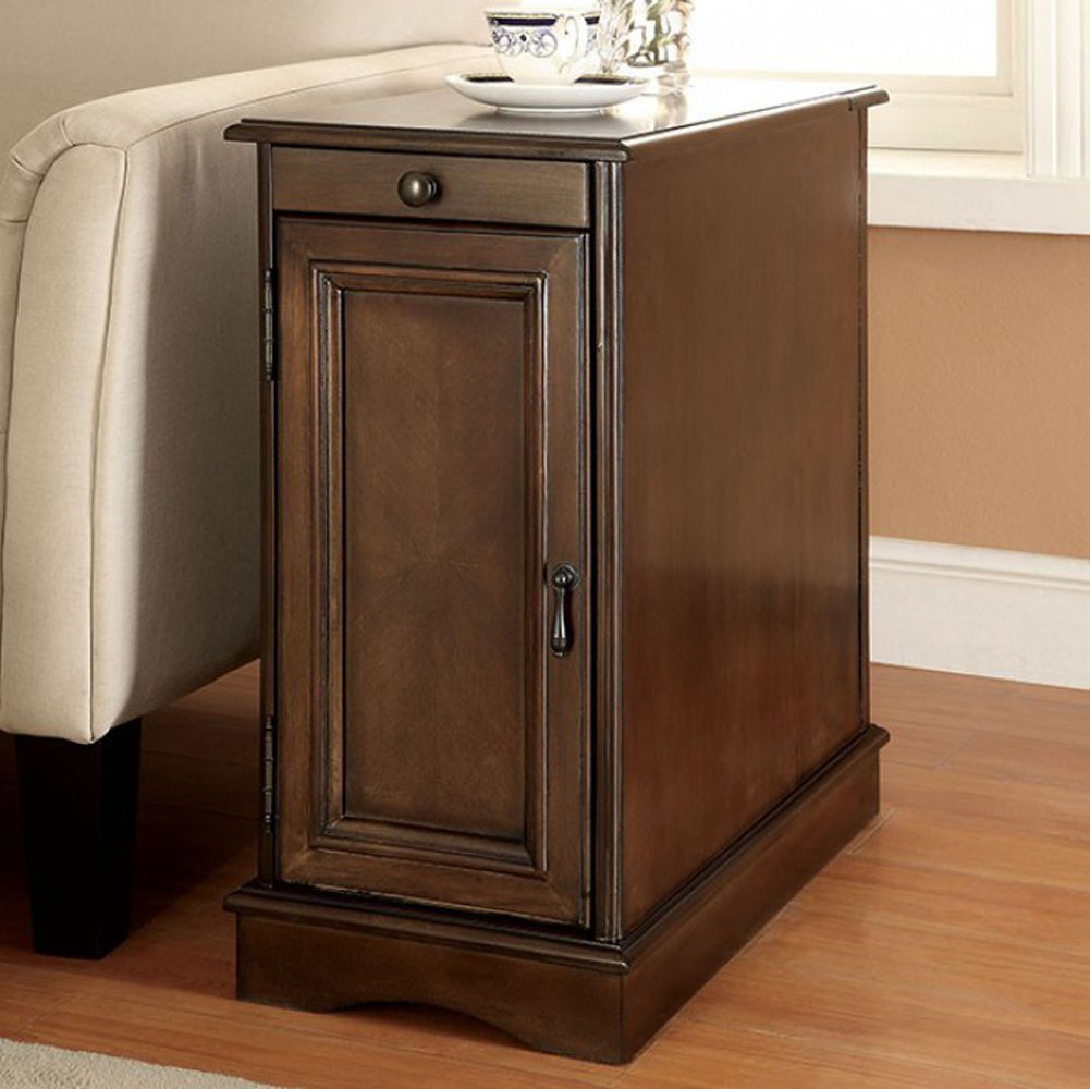 Furniture of America CM-AC171GY Lilith I Gray Side Table with USB End Nesting