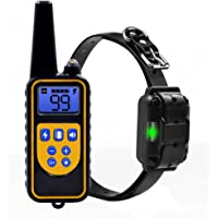 LANTOP Dog Training Collar With 2600Ft Remote Modes Beep Vibration and Shock Waterproof Rechargeable For All Size Dogs