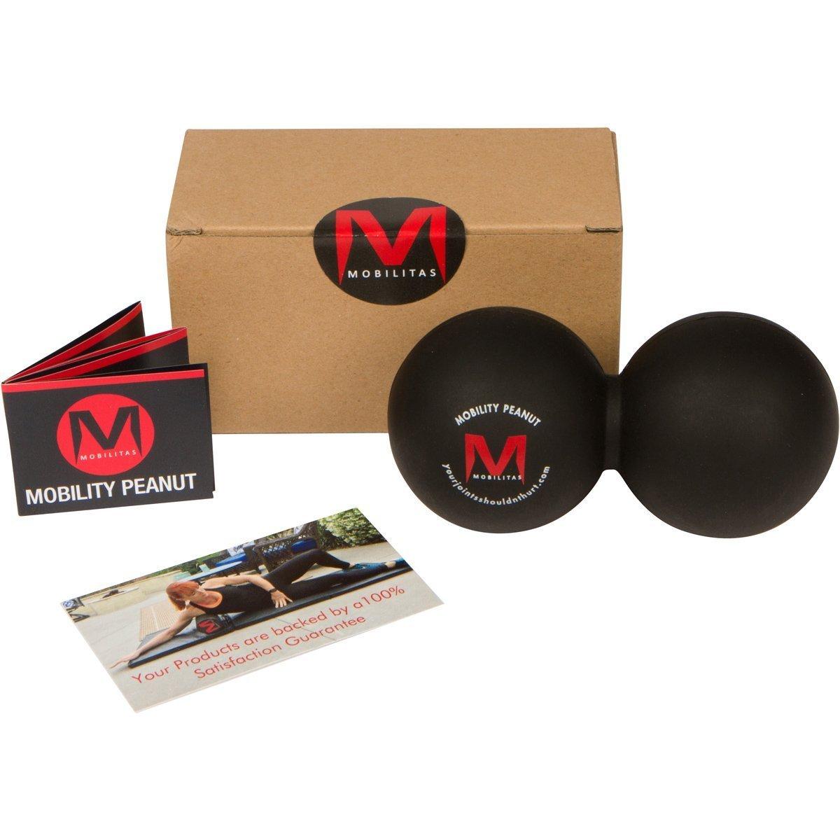 Mobilitas Mobilität Peanut – Das Original Double Lacrosse Ball & myofaszialer Release Werkzeug für Mobilität Training. respektiert für seine Griffigkeit und Langlebigkeit.-Dicht und extra fest – reinigt & sanitizes leicht
