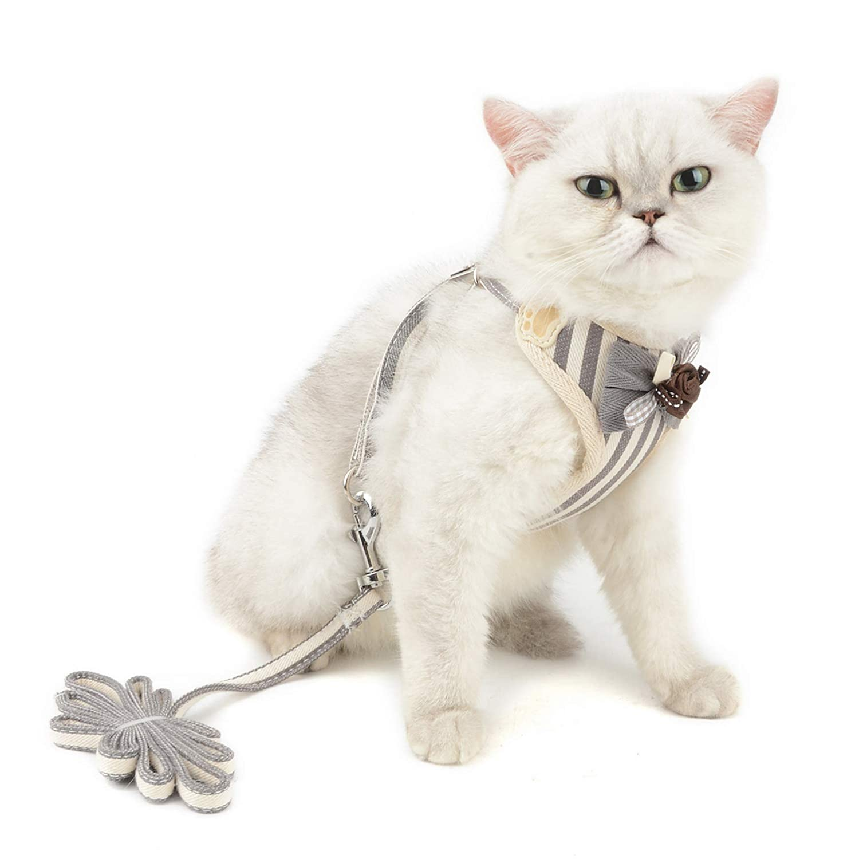 juego con correa ajustable para perros y gatos con chaleco acolchado Arn/és de malla para perros peque/ños de SELMAI