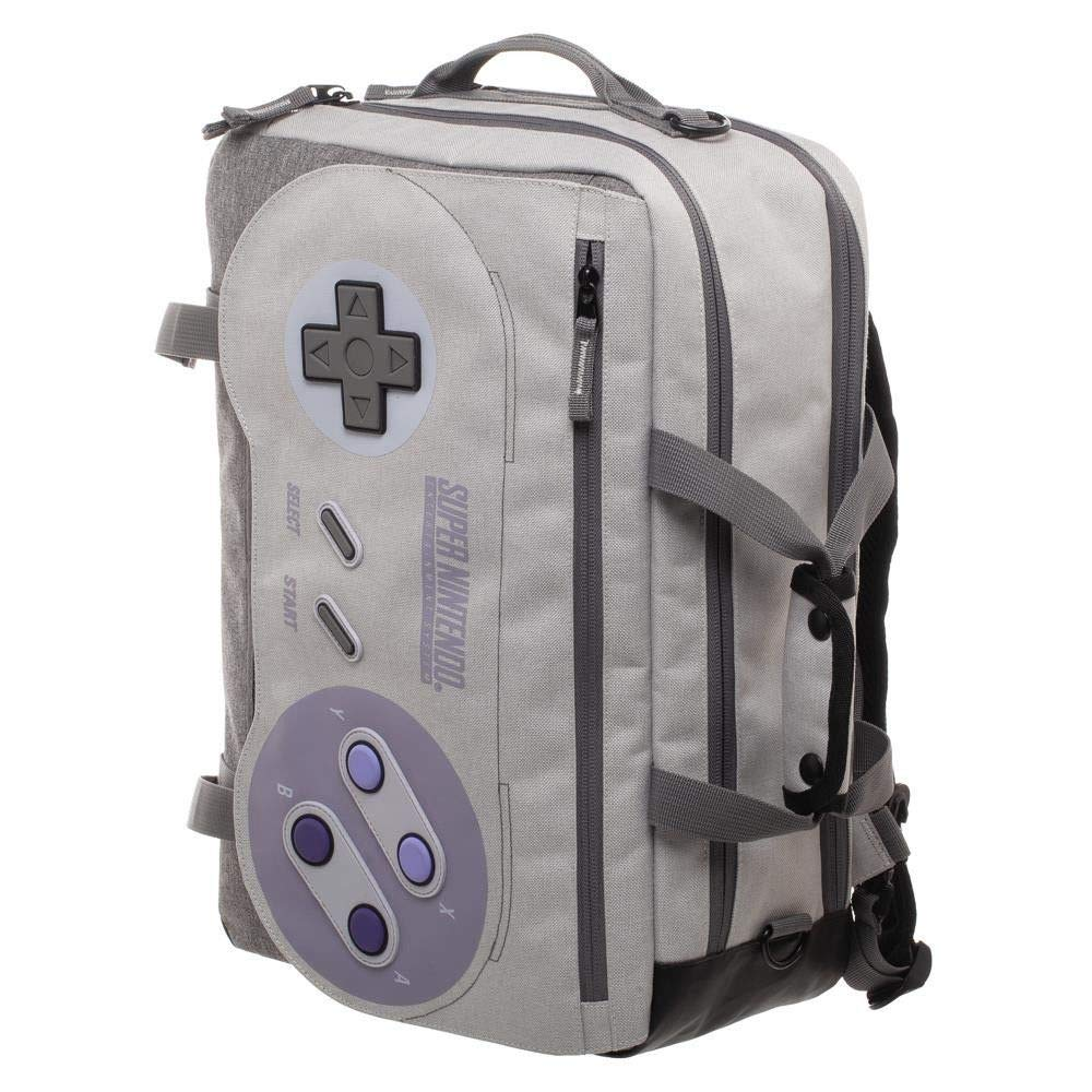 Licensed Super Nintendo Controller SNES Convertible Messenger Bag Backpack