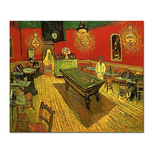 - Wieco Art Large Classic Canvas Prints Wall Art The Night Cafe in The Place Lamartine in Arles by Van Gogh Famous Abstract Oil Paintings Reproduction Artwork Giclee Pictures for Home Office Decor
