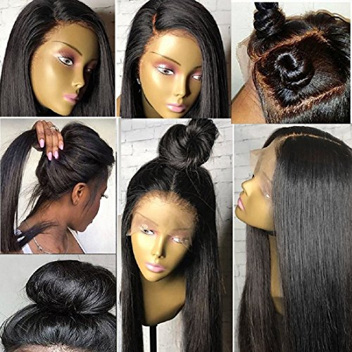 Any Part - 360 Lace Wig Pre Plucked Hunman Hair Wigs 150% Silky Straight Human Hair Wigs for Women with Baby Hair 360 Lace Frontal Wig Straight Hair 360 Wig for High Ponytail Updo Any Part Way 360 Lace Wigs 12
