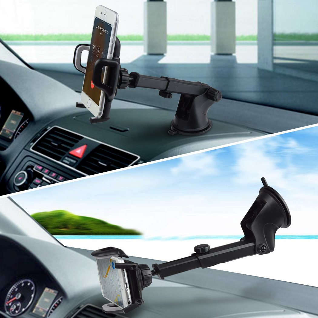 Car Phone Mount,Air Vent Holder Car Mount,Universal Phone Holder for Car Cell Phone,Upgrade 360 Degrees Dashboard Windshield Mount Compatible with Smart Phone Samsung Galaxy Note,LG and More