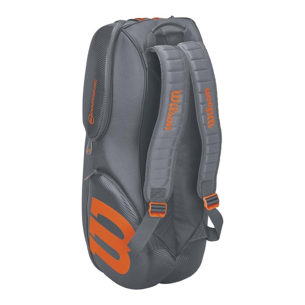 Wilson Burn Grey/orange 9 pack bag (Grey/Orange)