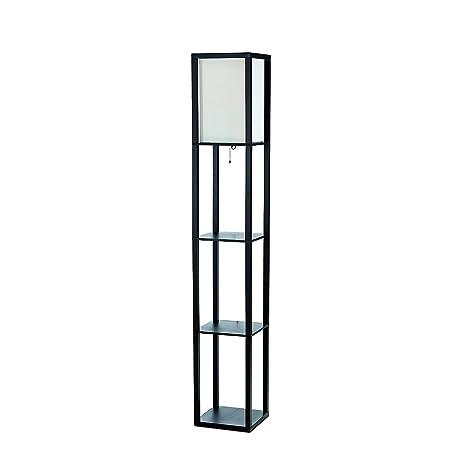 Amazon.com: Simple Designs LF1014-BLK Floor Lamp Etagere Organizer ...