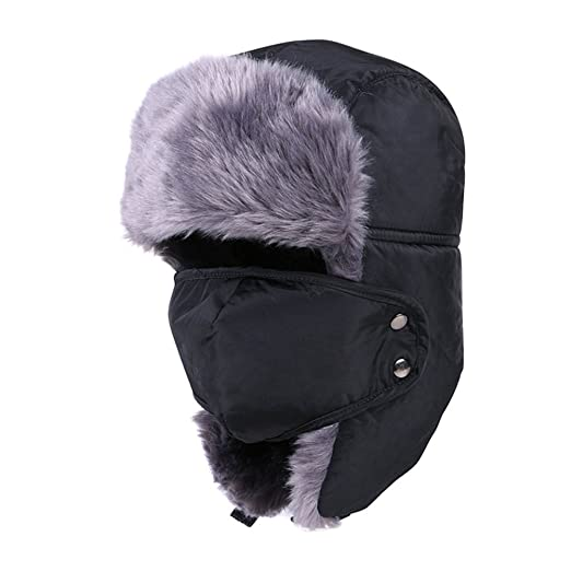 Unisex Winter Trooper Trapper Hats Ushanka Russian Hats Cap Hunting Ear  Flap Chin Strap Hat ( ec2389c37423