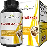Glucomannan for Weight Loss + Appetite Suppressant + Natural Constipation Relief – Konjac Root Powder Bulk Supplement for Digestive Health – Fast Acting Capsules for Women & Men - Nature Bound