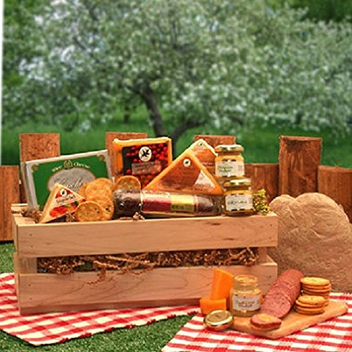 Signature Sausage & Cheese Crate (Christmas Goodie Basket Ideas)