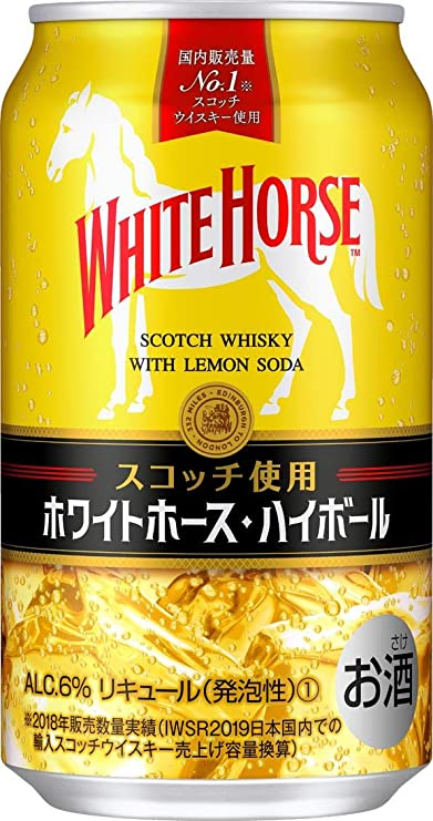 Amazon.co.jp: ホワイトホース ハイボール 350ml×24本 [ ウイスキー ...