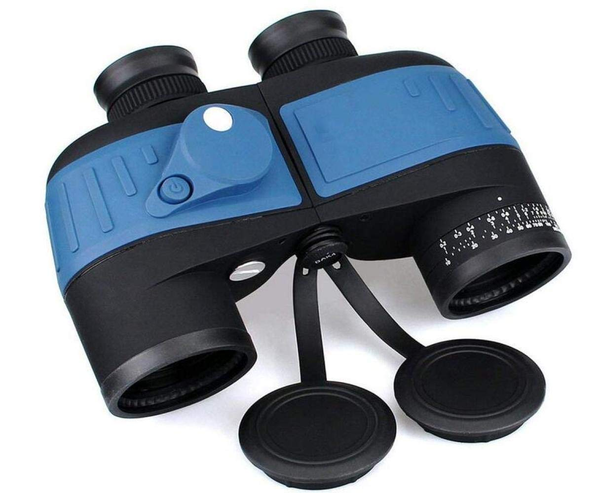CTO Marine Binoculars 10X50 Waterproof Floating with Internal Rangefinder and Compass Navigation Boating Fishing Water Sports,A,Telescope