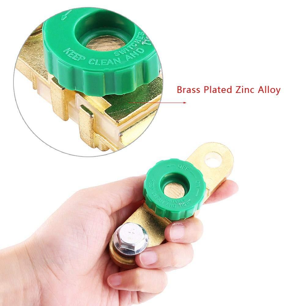 Keenso Autobatterie Anschluss Verbindungs Schalter Schnelltrennung trennen 10mm Batterie Stapel Kopf