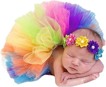 bismarckbeer recién nacido bebé fotografía Props ropa arco iris tutú ...