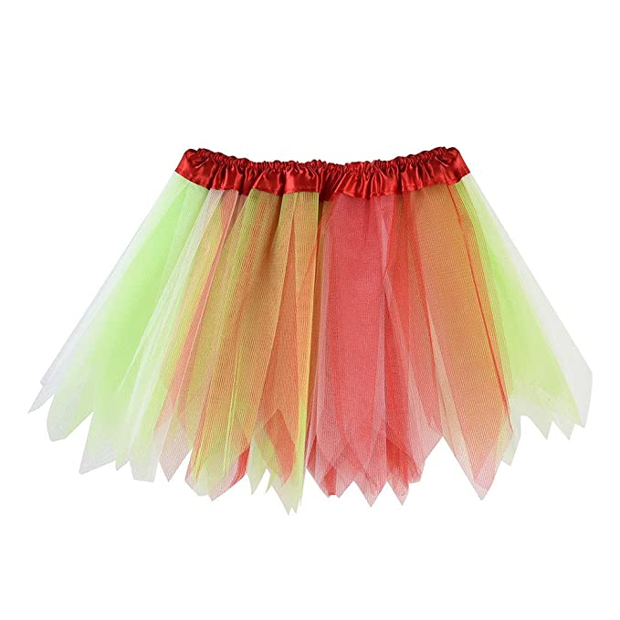5ee60c8ad4 Image Unavailable. Image not available for. Colour: Lazzboy Girls Tutu  Tulle Mix Colourful Ballet Skirt Princess ...