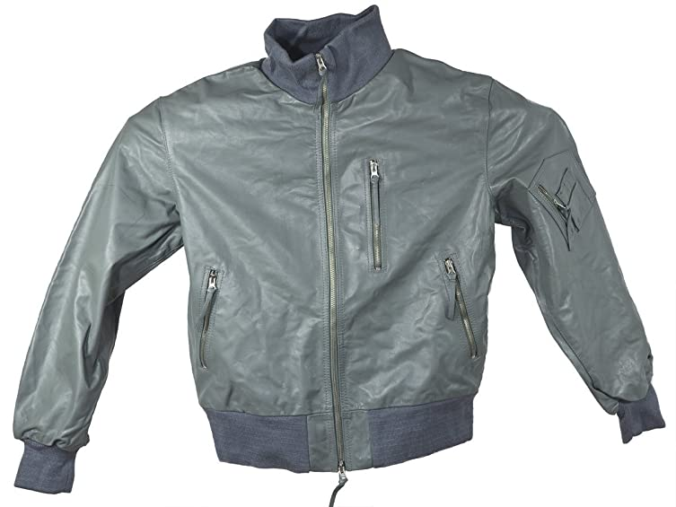 German Pilots Grey Leather Flight Jacket at Amazon Men's Clothing ...